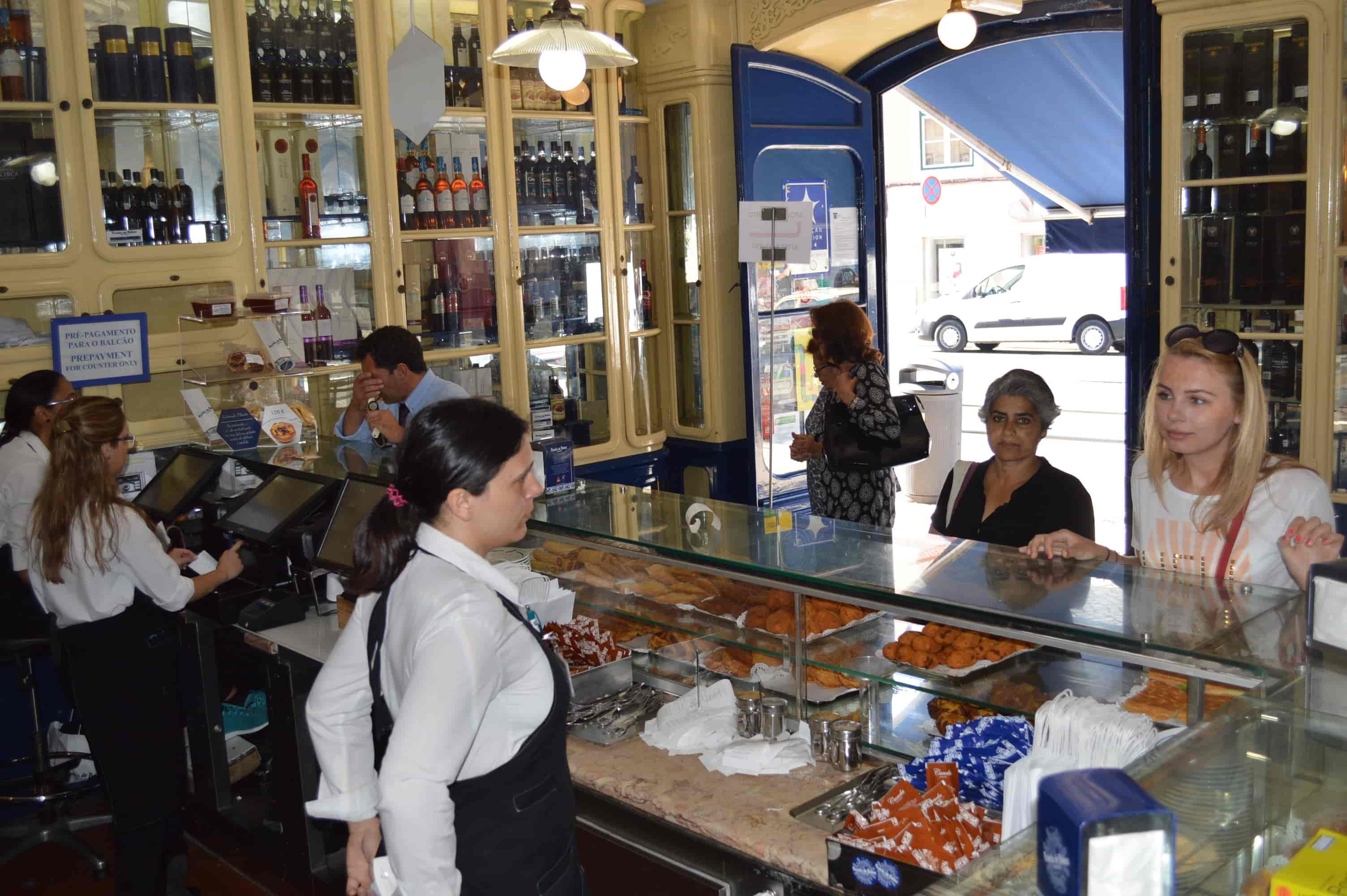Lobby of the Pasteis de Belem shop in Lisbon