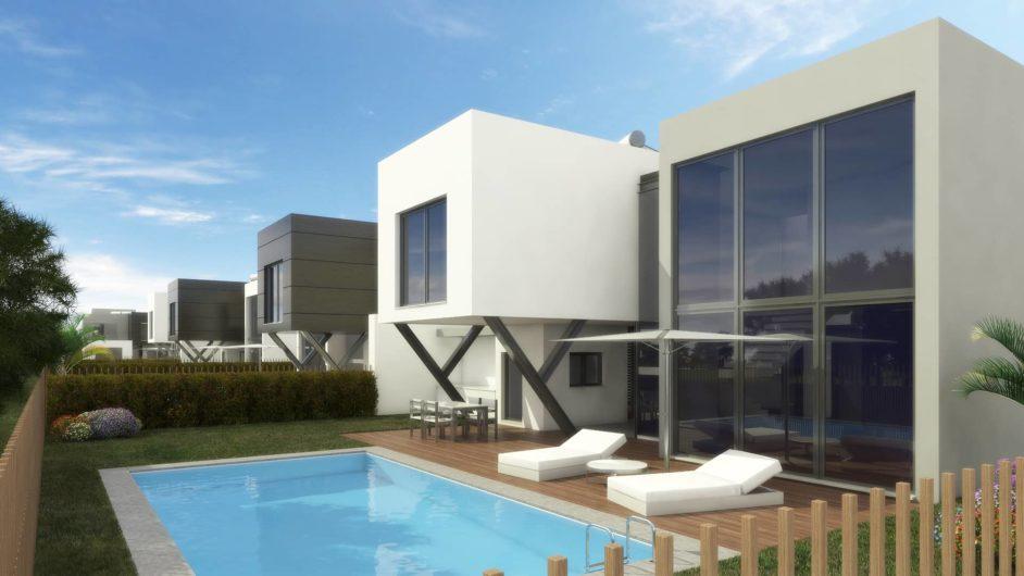 Plan jardin gauche maison Villa Feria Portugal