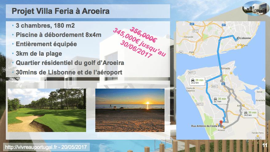 Présentation du projet Villa Feria à Aroeira